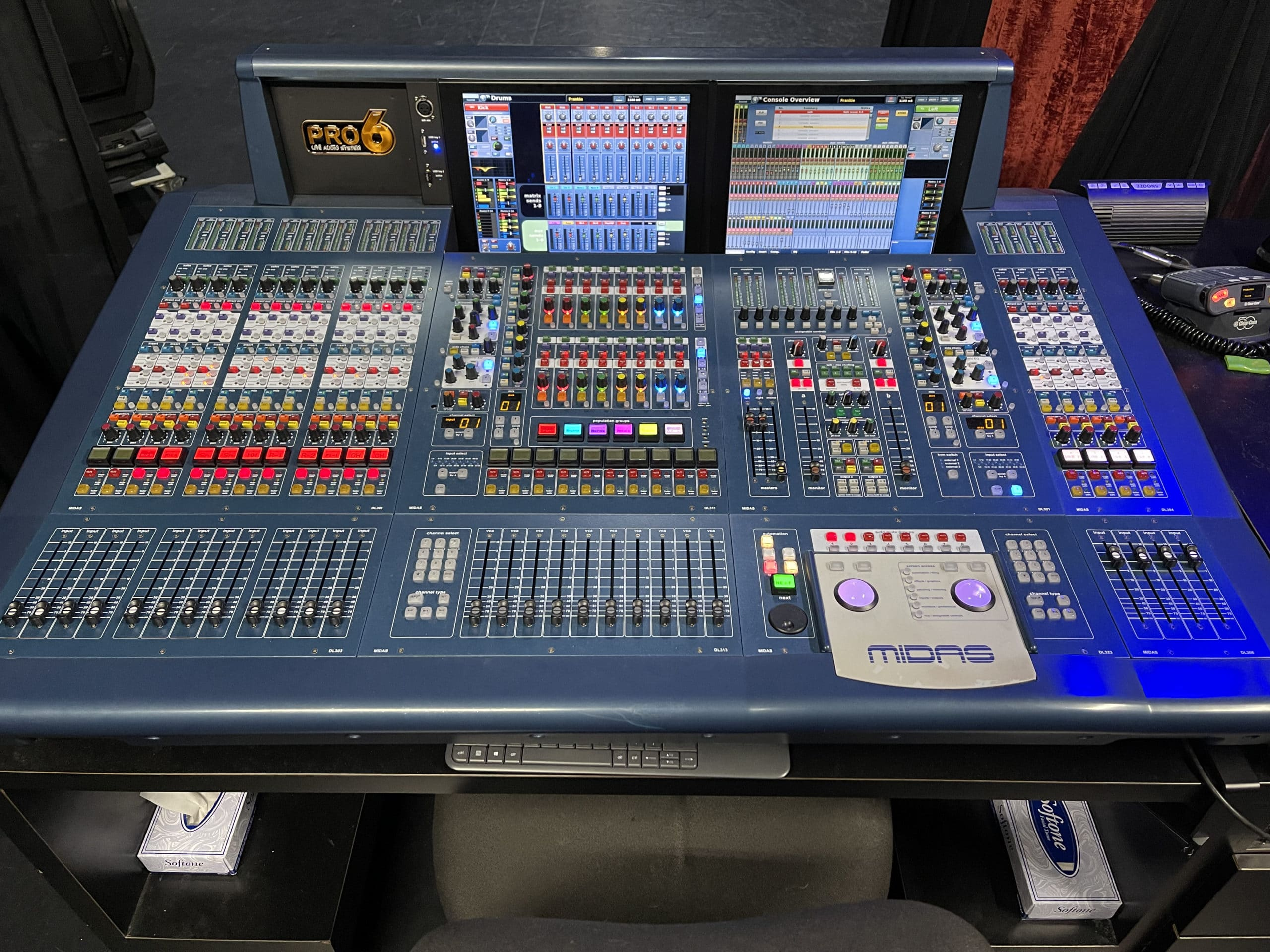 Midas PRO6 Live Audio Mixing System with 64 Input Channels w/ DL351 & DL451 Modular Stage Box w/ I/O Cards #C1278-2 Main